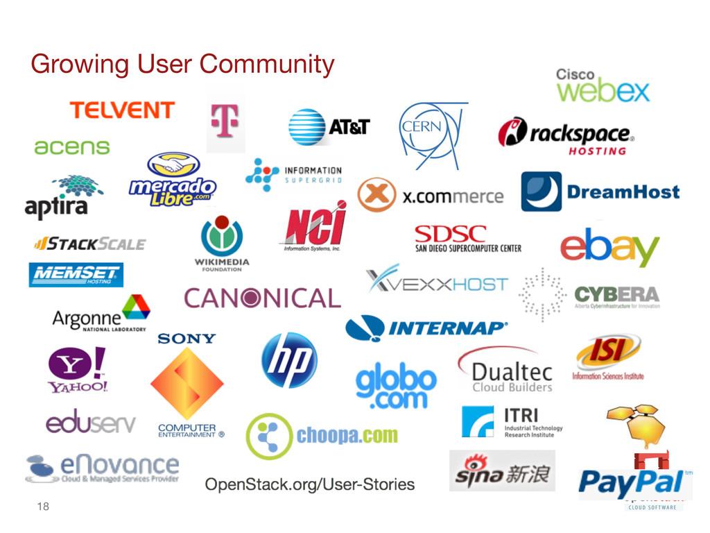 18 Growing User Community