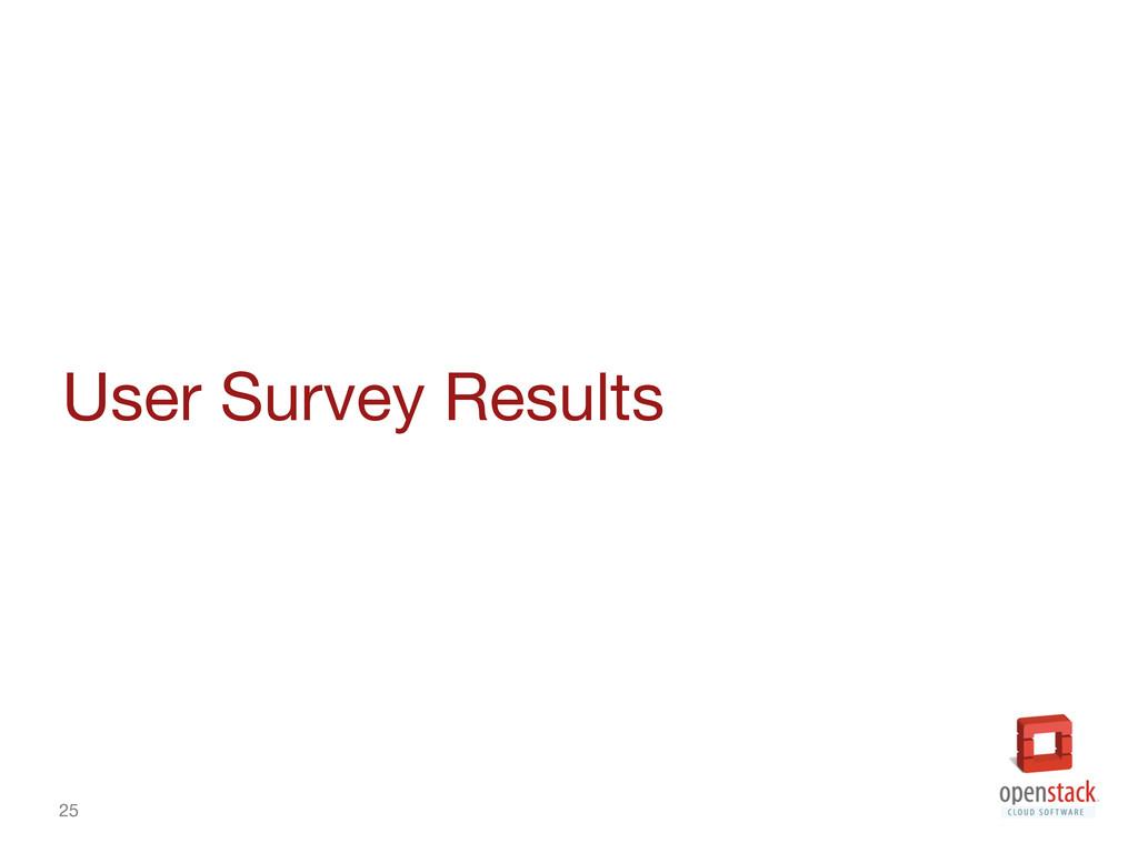 25 User Survey Results