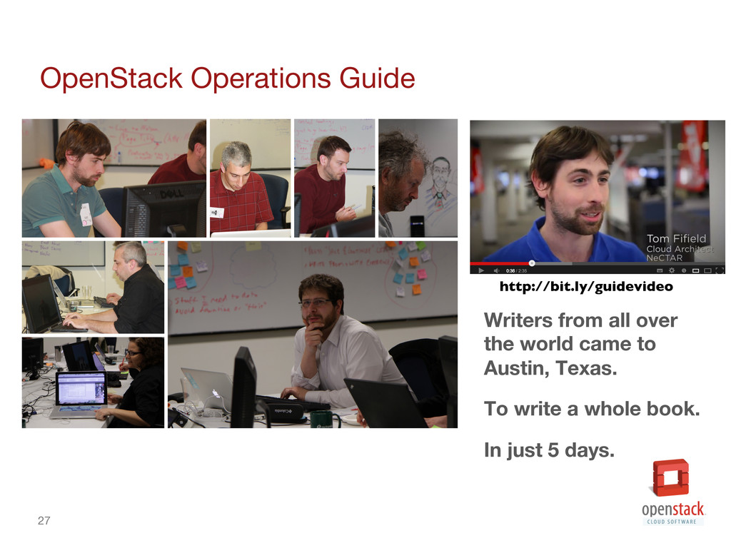 27 OpenStack Operations Guide Writers from al...