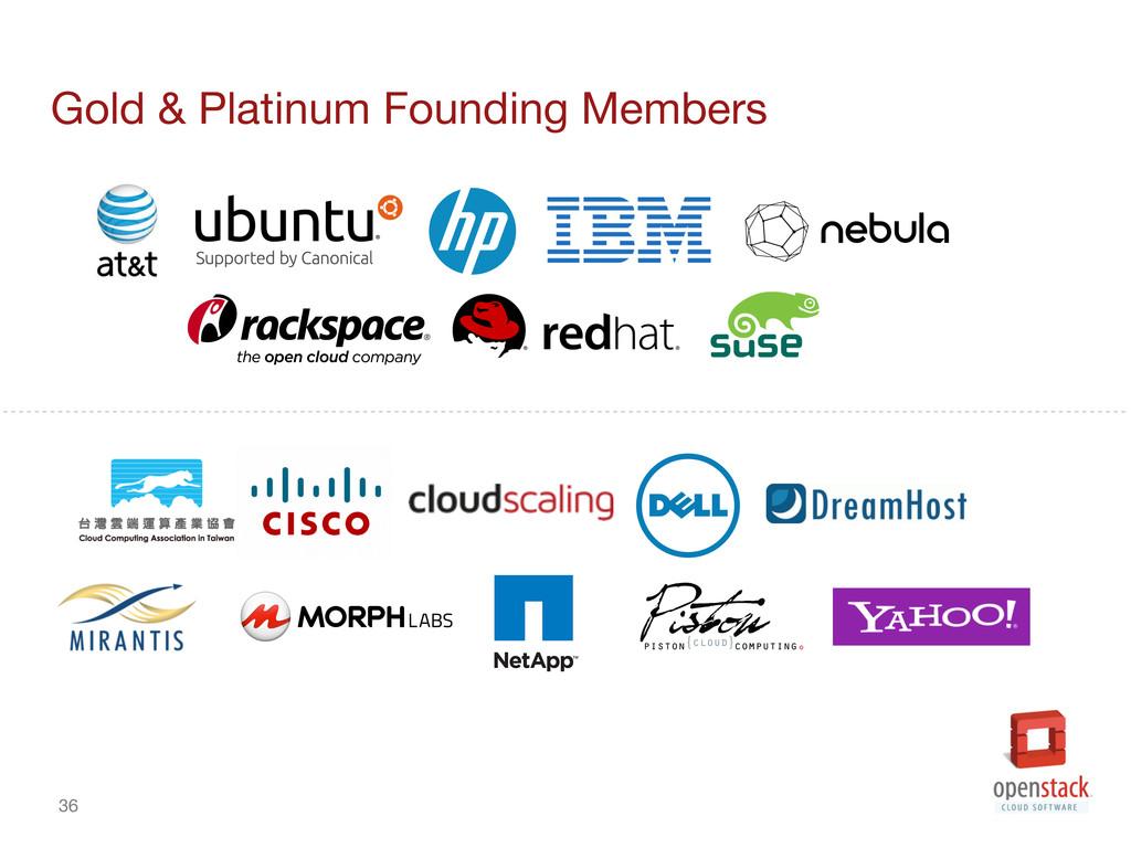 36 Gold & Platinum Founding Members
