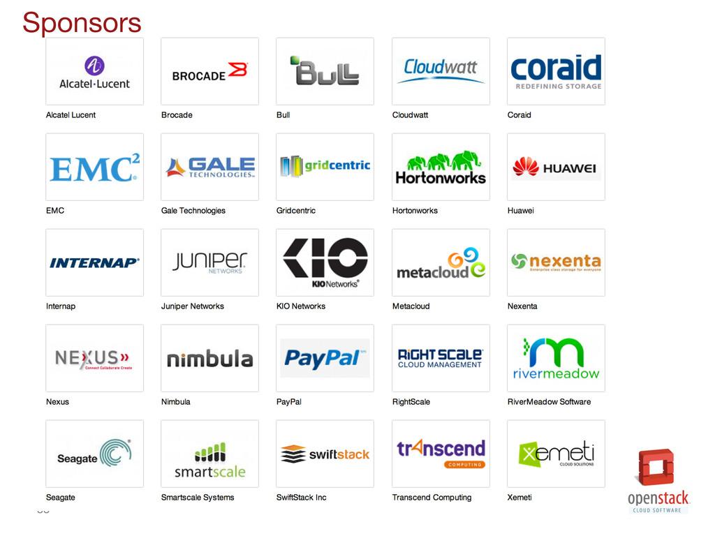 38 Sponsors