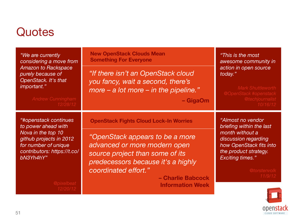 """51 Quotes """"If there isn't an OpenStack cloud ..."""
