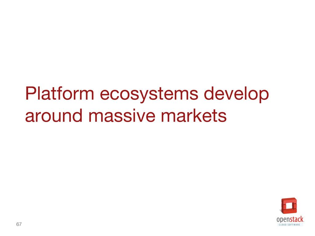 67 Platform ecosystems develop around massive ...