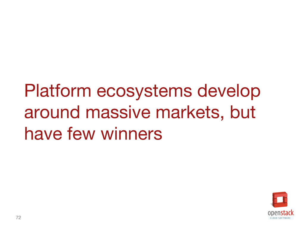72 Platform ecosystems develop around massive ...