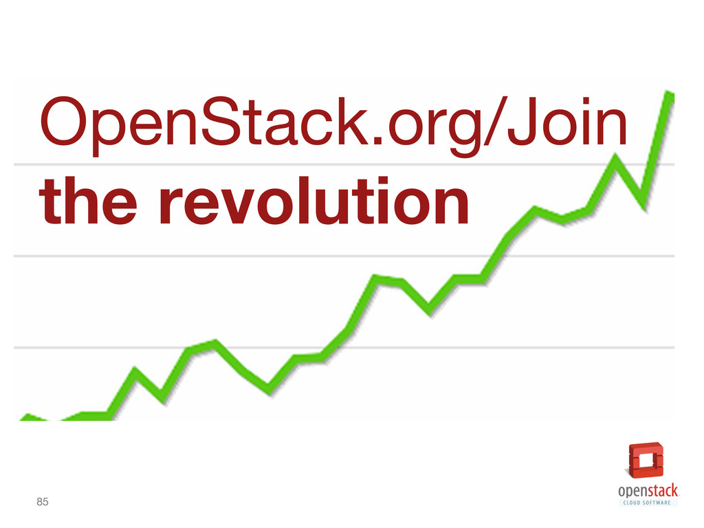 85 OpenStack.org/Join  the revolution