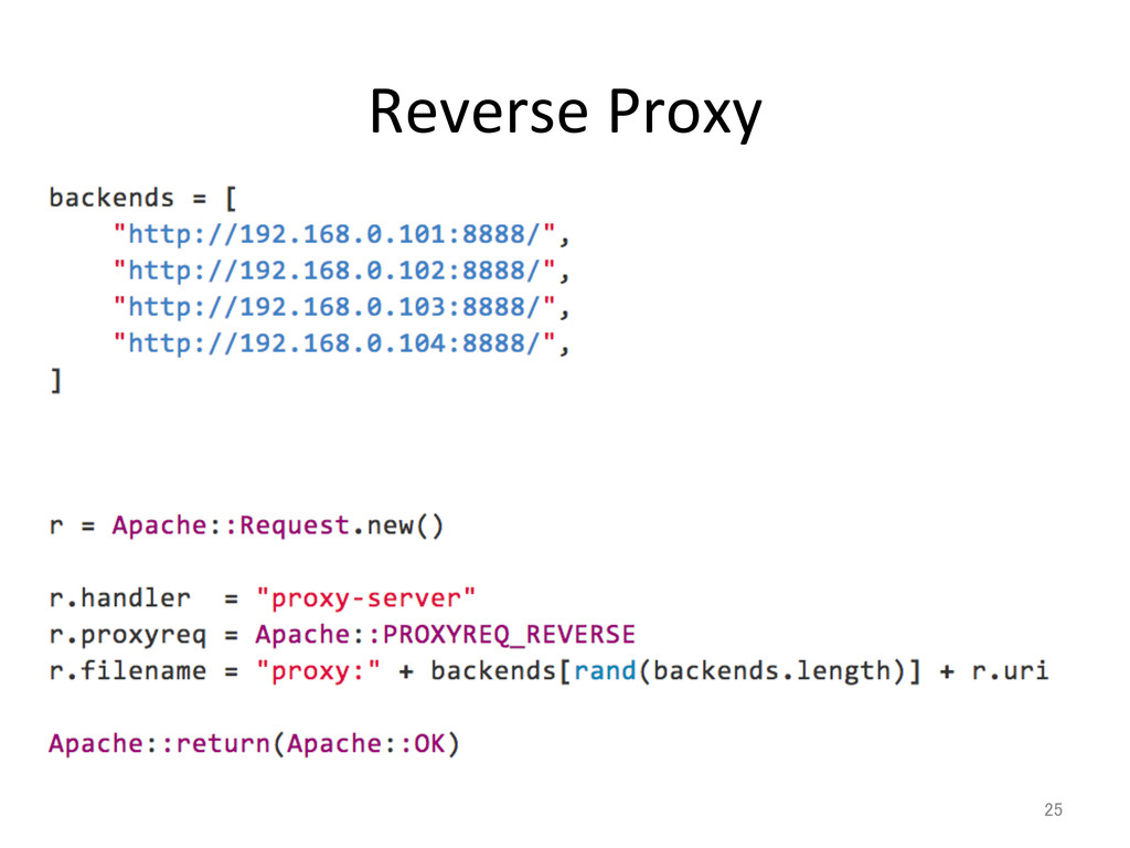 Reverse Proxy 25