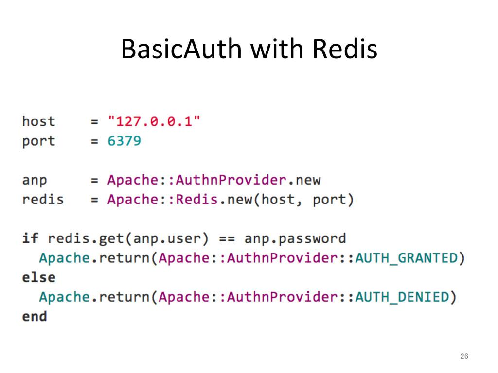 BasicAuth with Redis 26