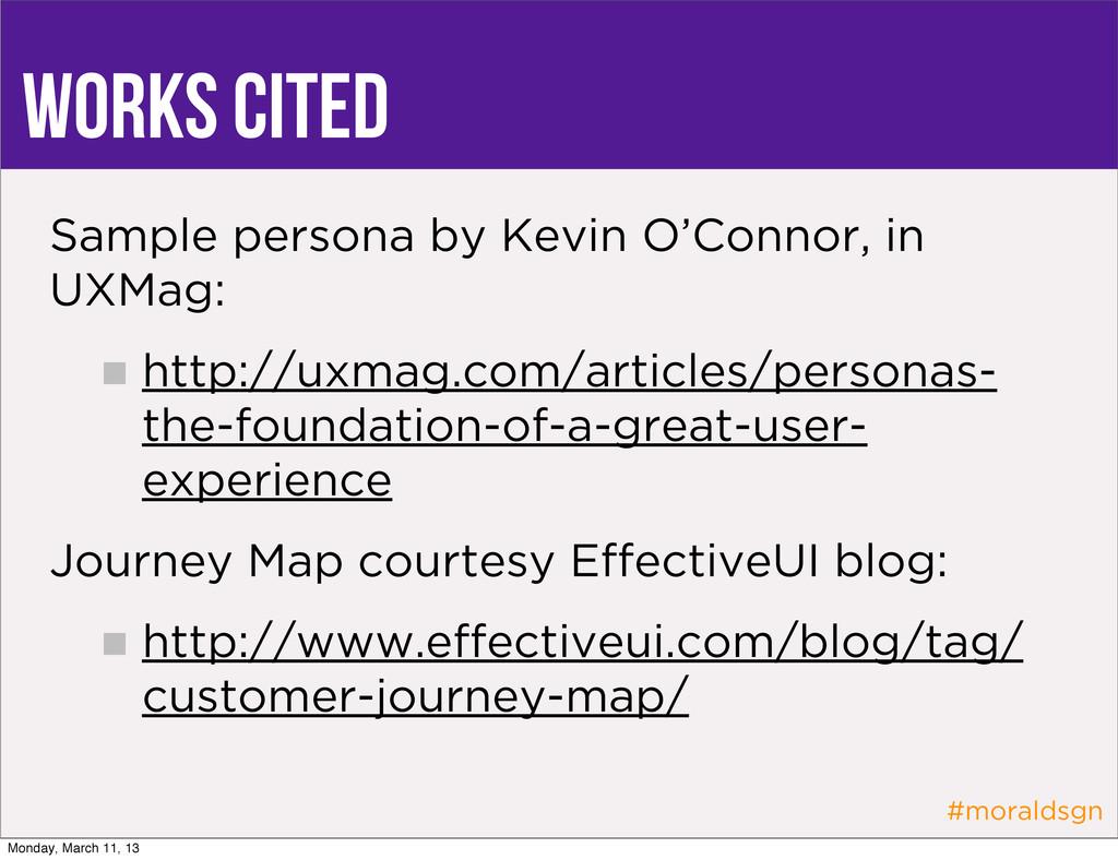 #moraldsgn Works Cited Sample persona by Kevin ...