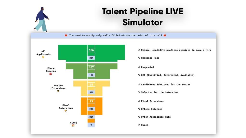 Talent Pipeline LIVE Simulator