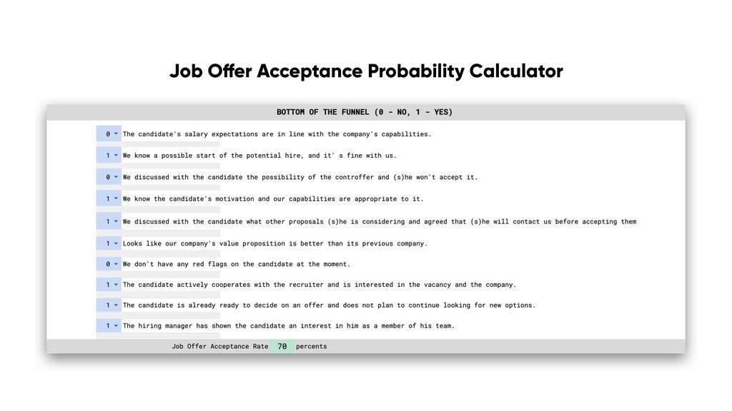 Job Offer Acceptance Probability Calculator