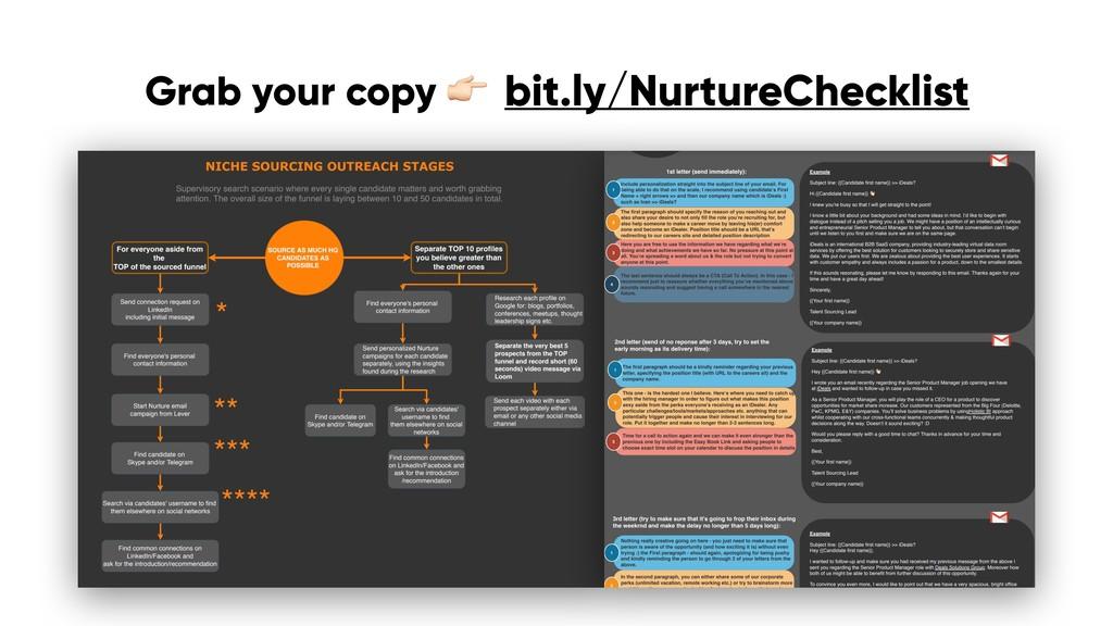 bit.ly/NurtureChecklist Grab your copy !