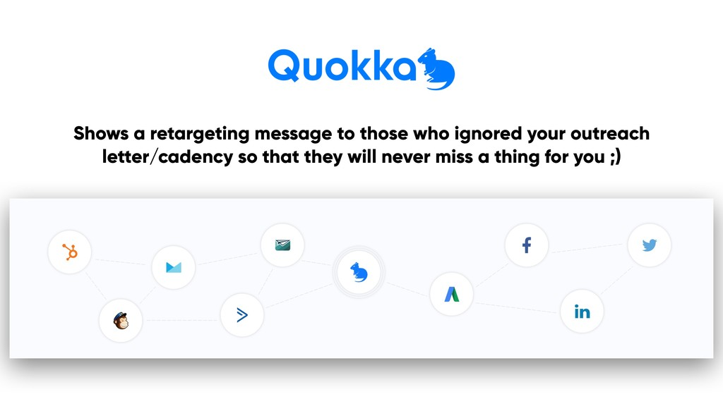 Shows a retargeting message to those who ignore...