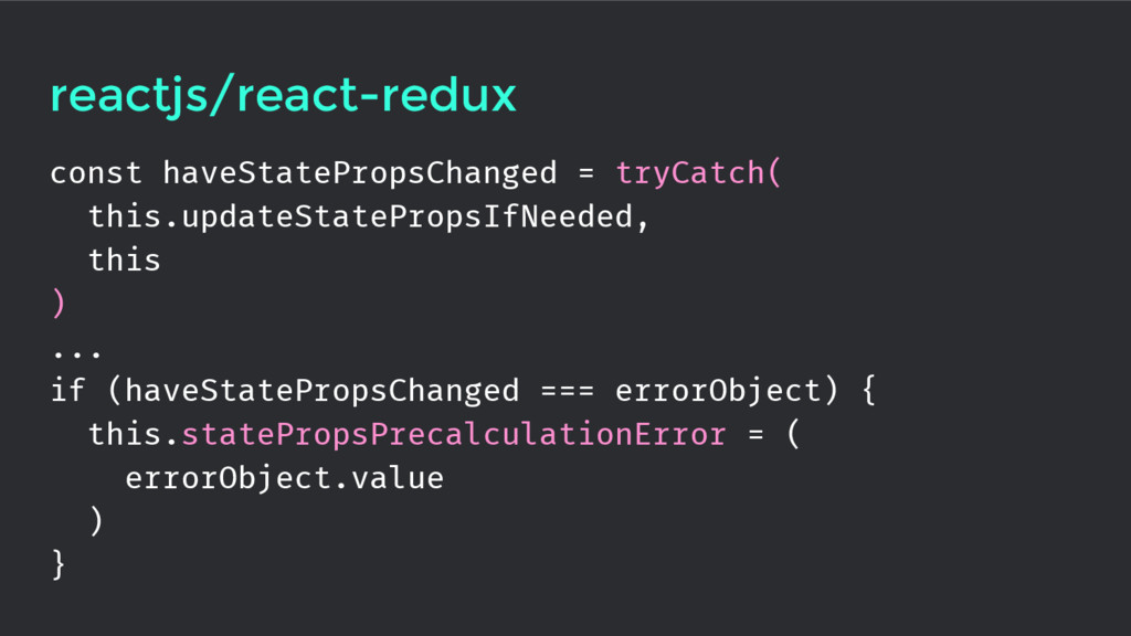 reactjs/react-redux const haveStatePropsChanged...