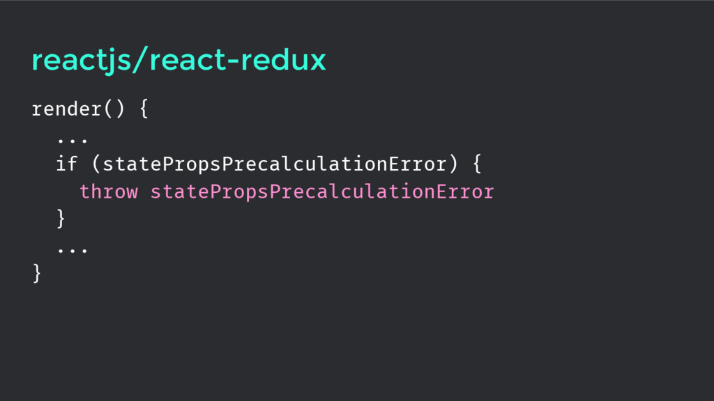 reactjs/react-redux render() { ... if (statePro...