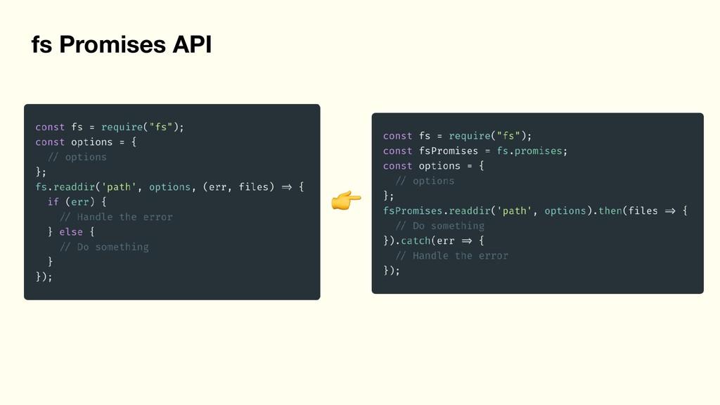 fs Promises API