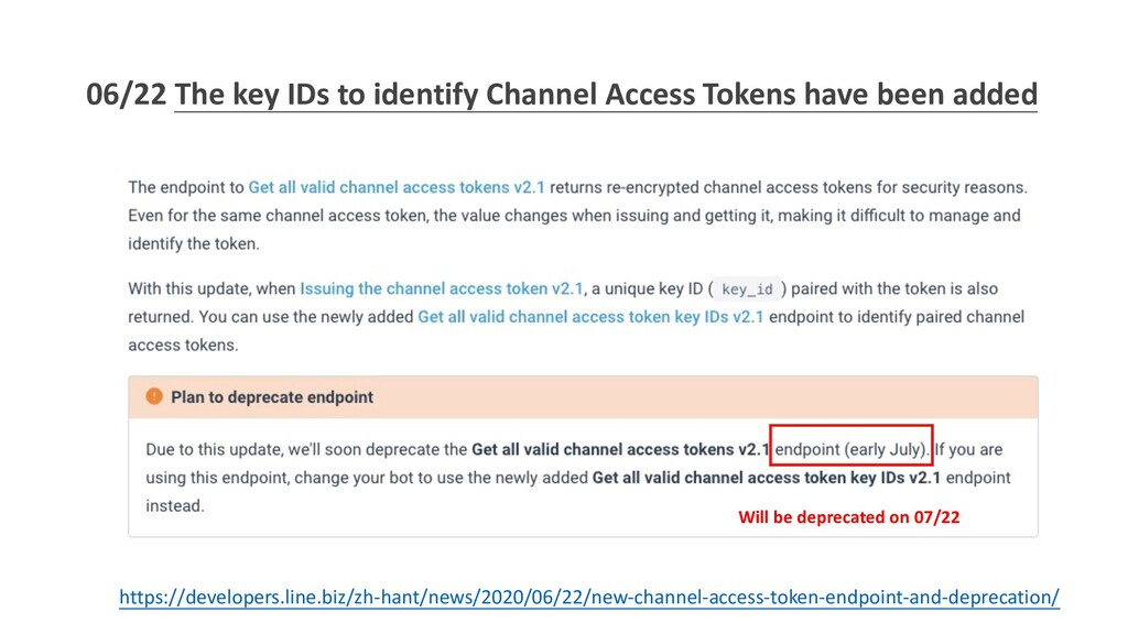 06/22 The key IDs to identify Channel Access To...