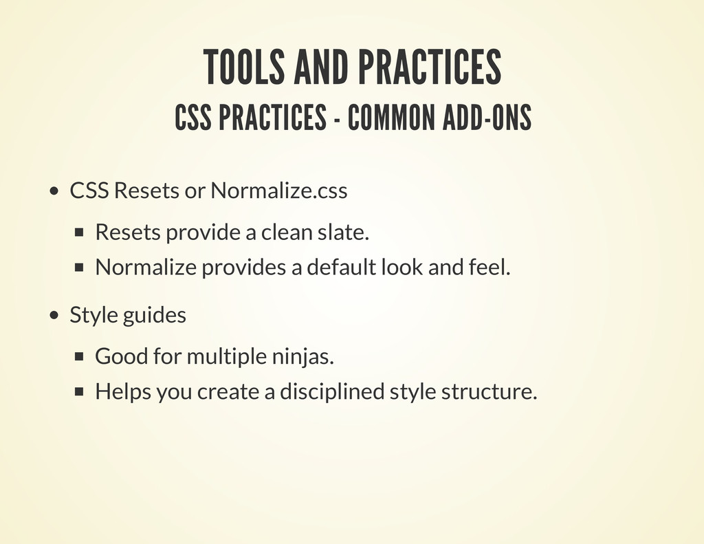 TOOLS AND PRACTICES CSS PRACTICES - COMMON ADD-...