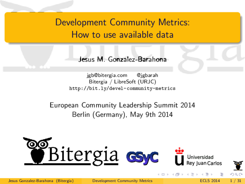 Development Community Metrics: How to use avail...