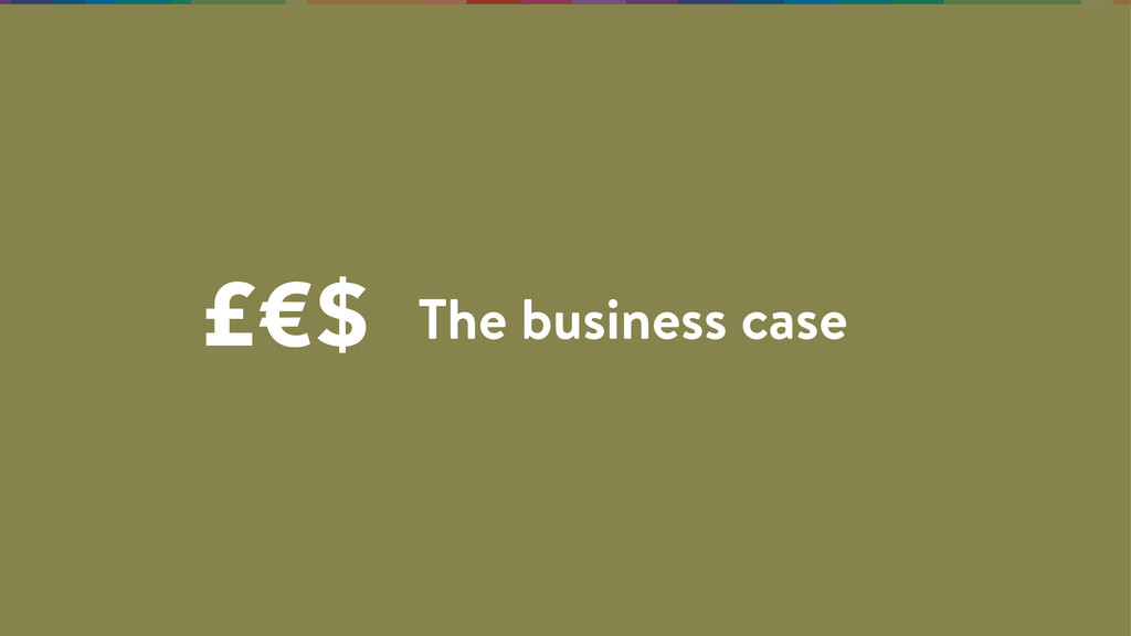 The business case £€$