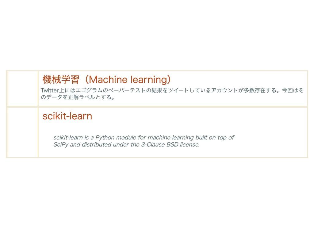 機械学習(Machine learning) 機械学習(Machine learning) T...