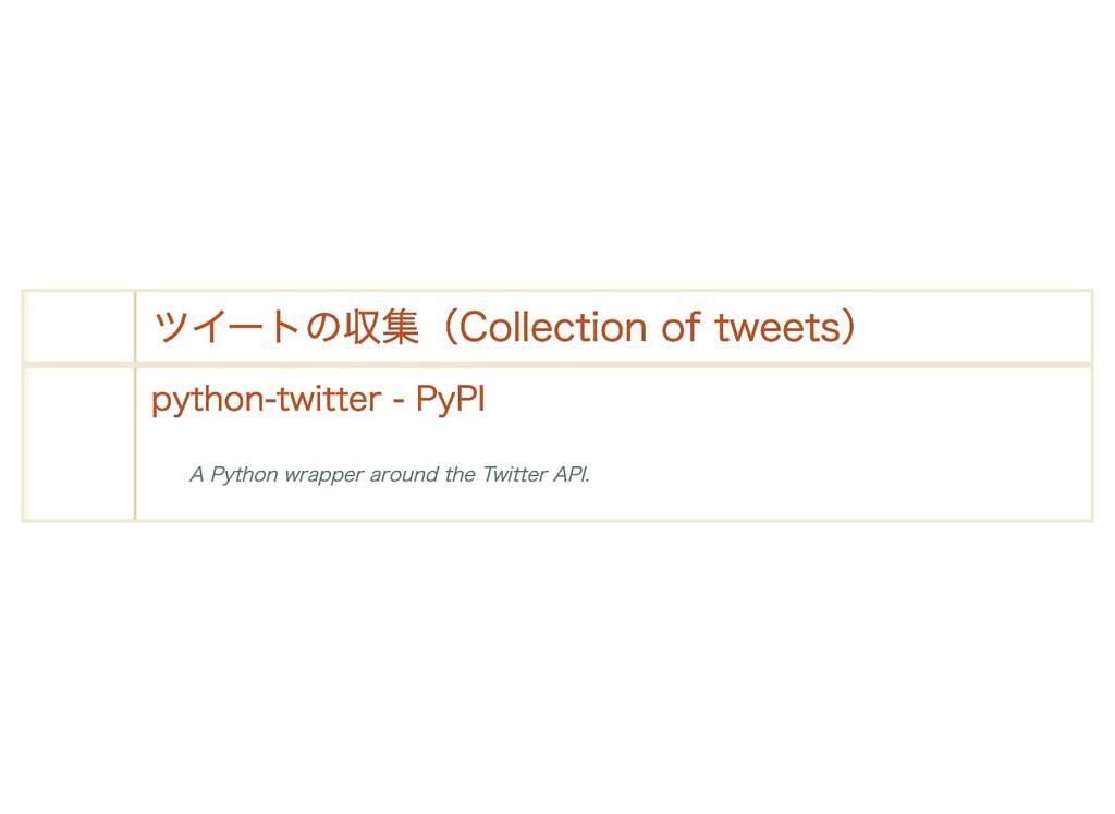 ツイートの収集(Collection of tweets) ツイートの収集(Collectio...