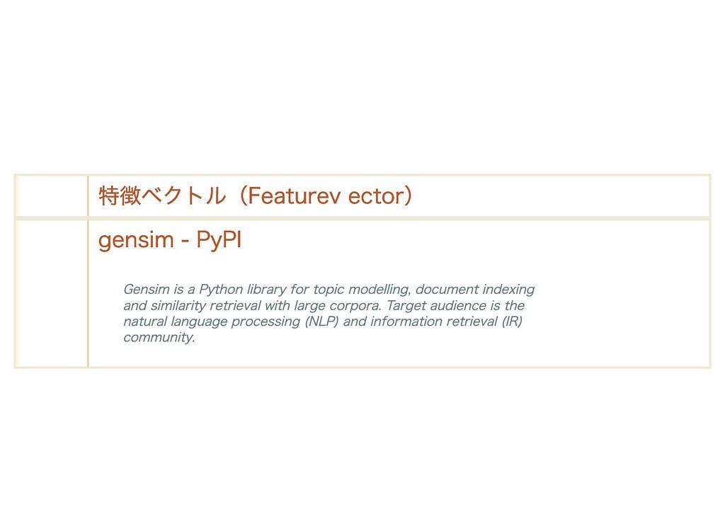 特徴ベクトル(Feature vector) 特徴ベクトル(Feature vector) g...