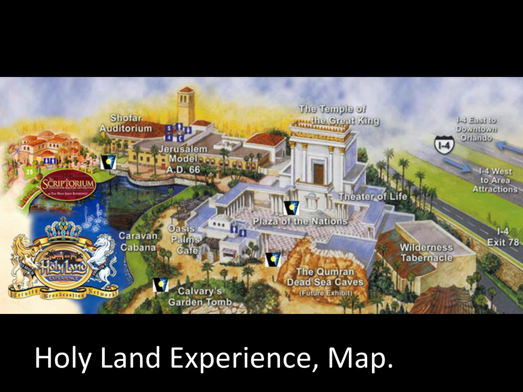 Holy Land Experience, Map.
