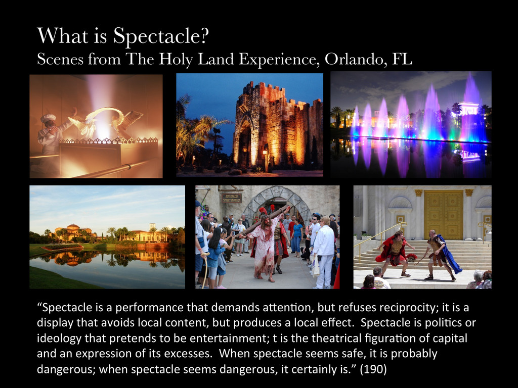 What is Spectacle? Scenes from The Holy Land E...