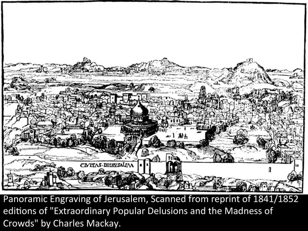 Panoramic Engraving of Jerusalem, S...