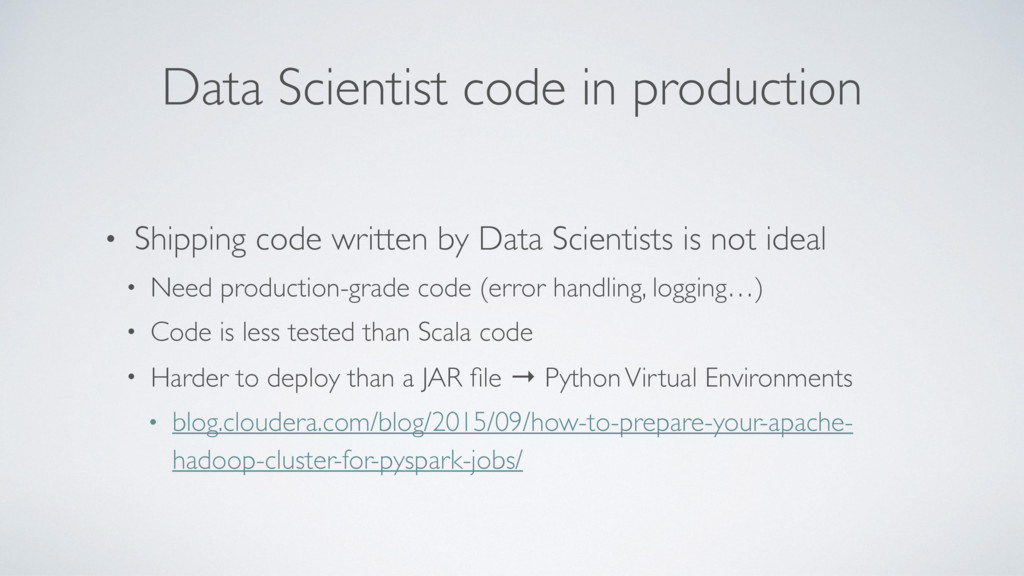 Data Scientist code in production • Shipping co...