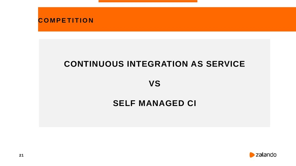 21 COMPE TITION CONTINUOUS INTEGRATION AS SERVI...