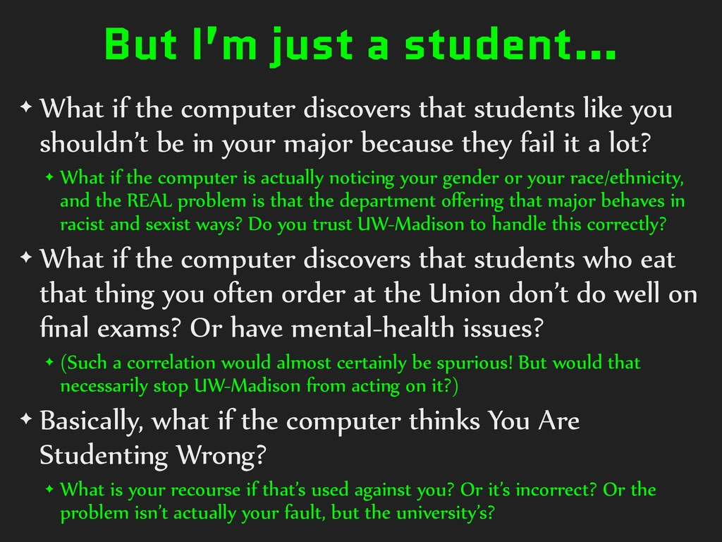 But I'm just a student… ✦ What if the computer ...