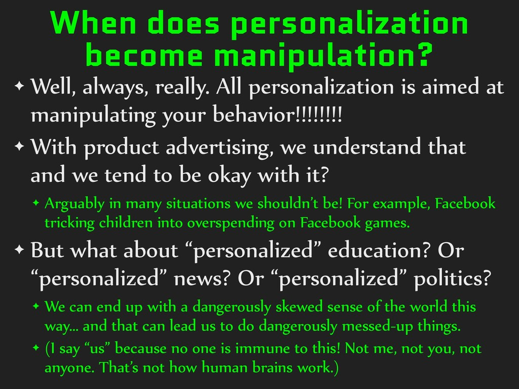 When does personalization become manipulation? ...