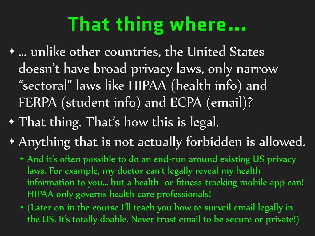 That thing where… ✦ … unlike other countries, t...