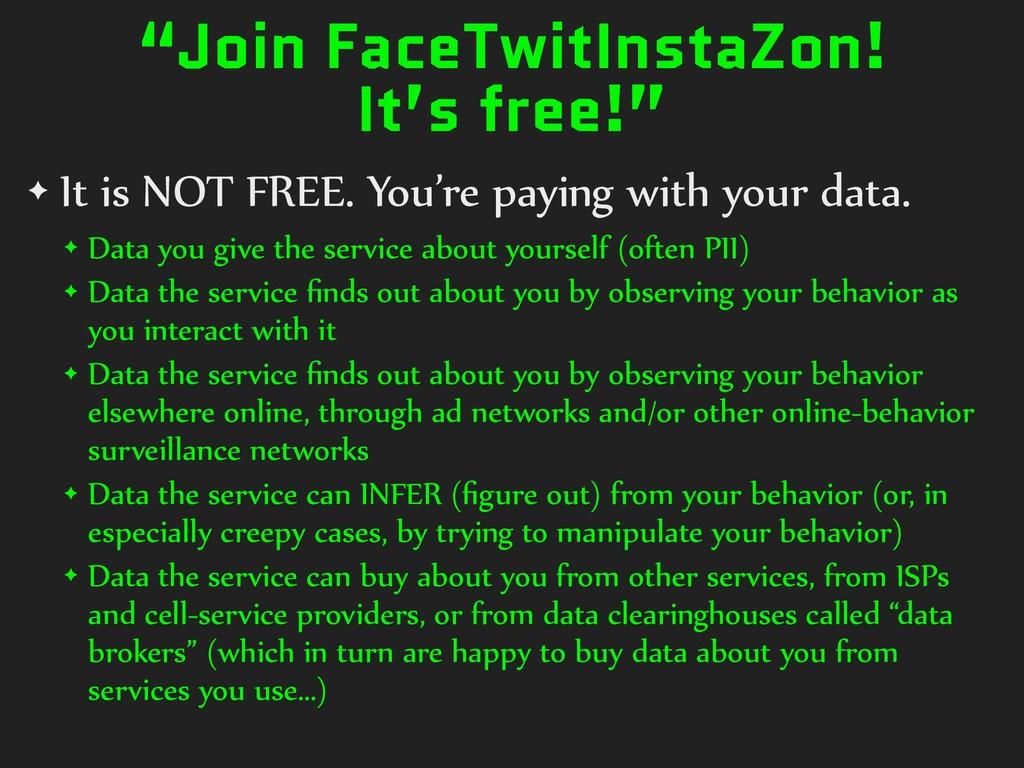 """Join FaceTwitInstaZon! It's free!"" ✦ It is NOT..."