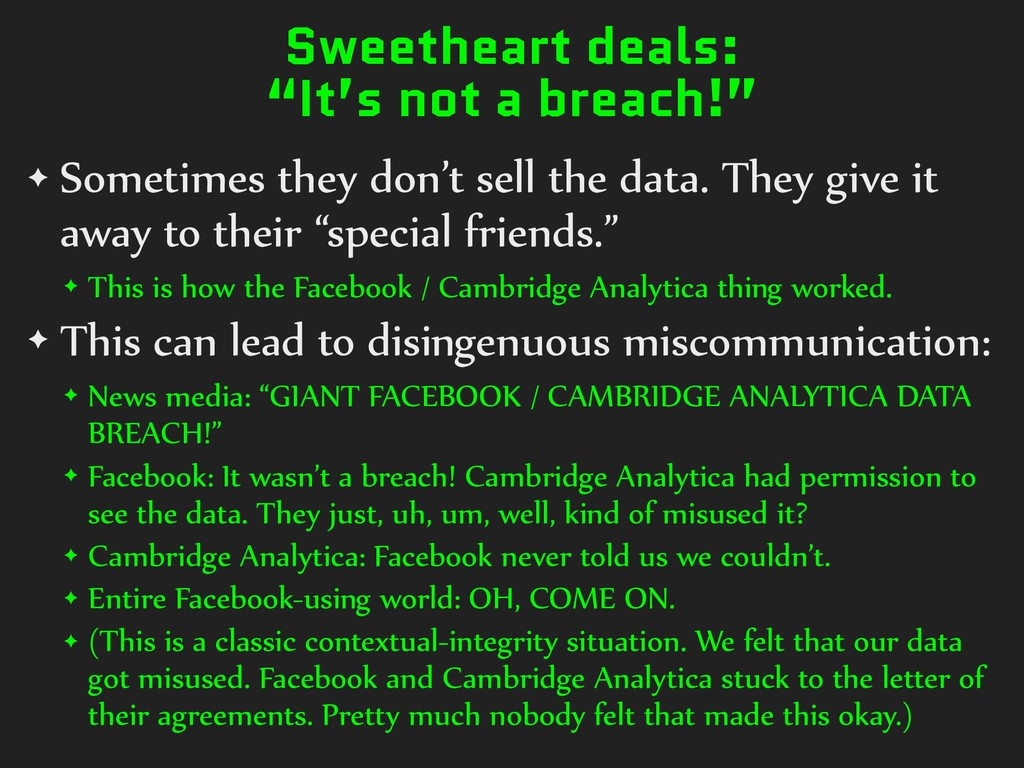 "Sweetheart deals: ""It's not a breach!"" ✦ Someti..."