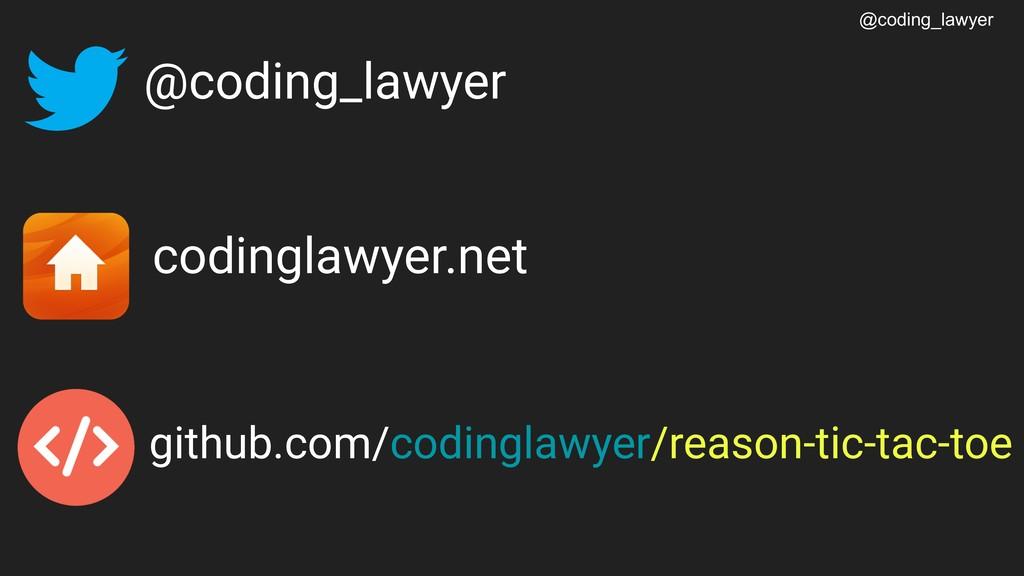 @coding_lawyer @coding_lawyer codinglawyer.net ...