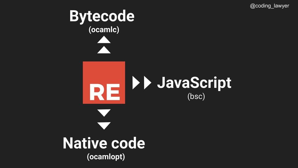 @coding_lawyer c Native code (ocamlopt) Bytecod...