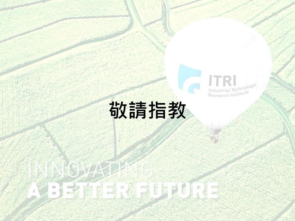 © ITRI. 工業技術研究院著作 20 敬請指教