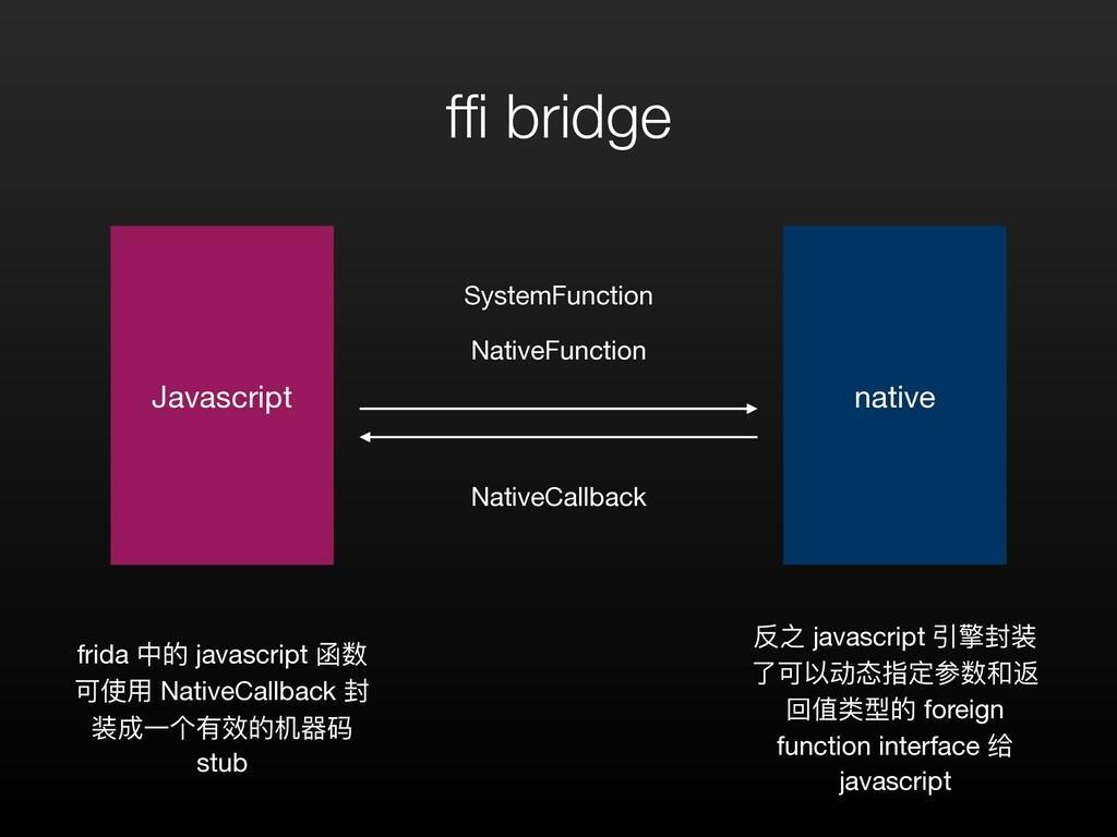 ffi bridge Javascript native NativeFunction Syst...