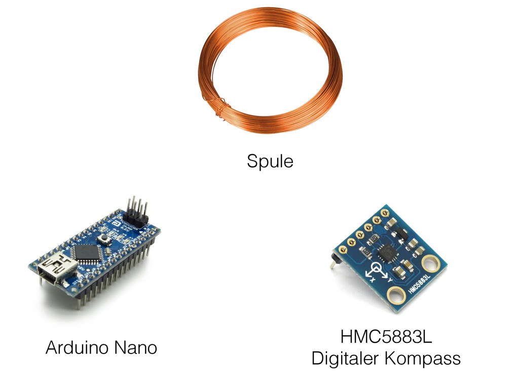 Arduino Nano Spule HMC5883L Digitaler Kompass