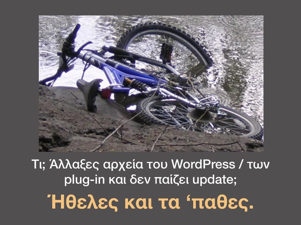 Τι; Άλλαξες αρχεία του WordPress / των plug-in ...