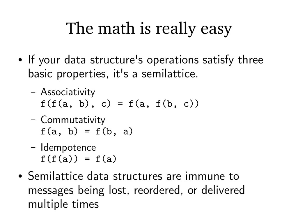 The math is really easy ● If your data structur...