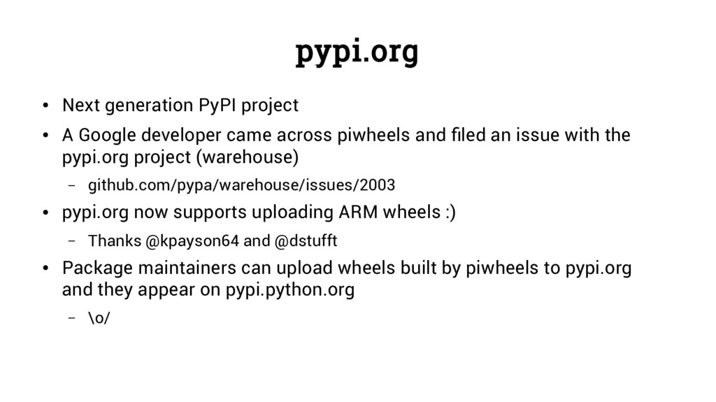 pypi.org ● Next generation PyPI project ● A Goo...