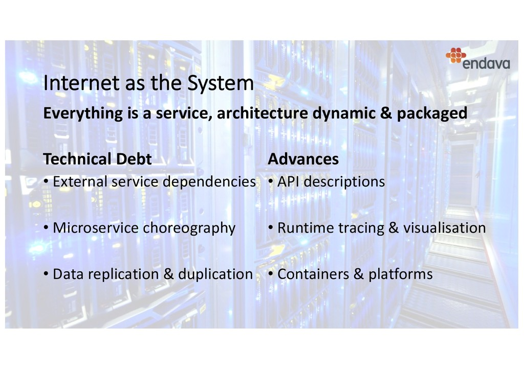 Internet as the System Technical Debt • Externa...