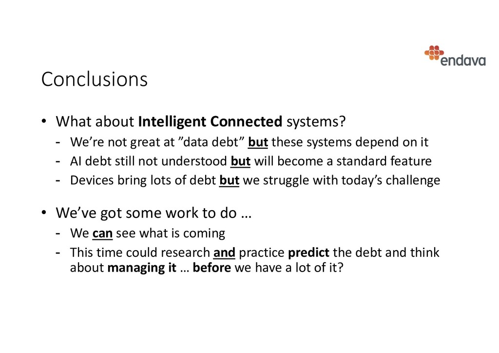 Conclusions • What about Intelligent Connected ...