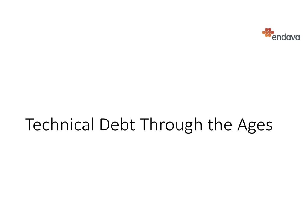 Technical Debt Through the Ages