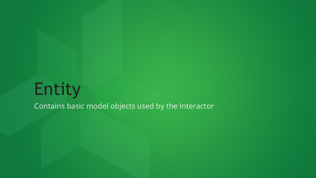 Entity Contains basic model objects used by the...