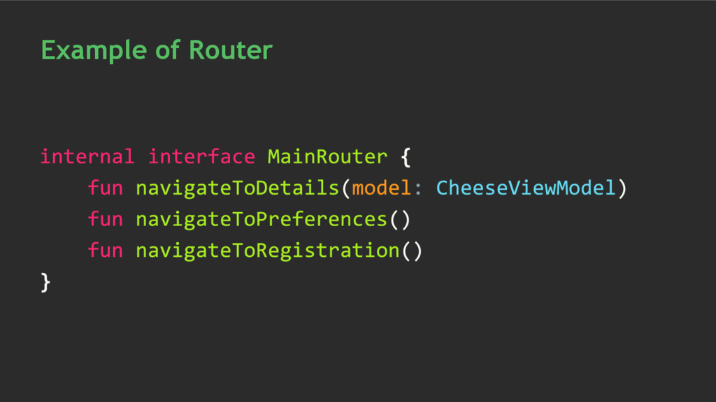 Example of Router