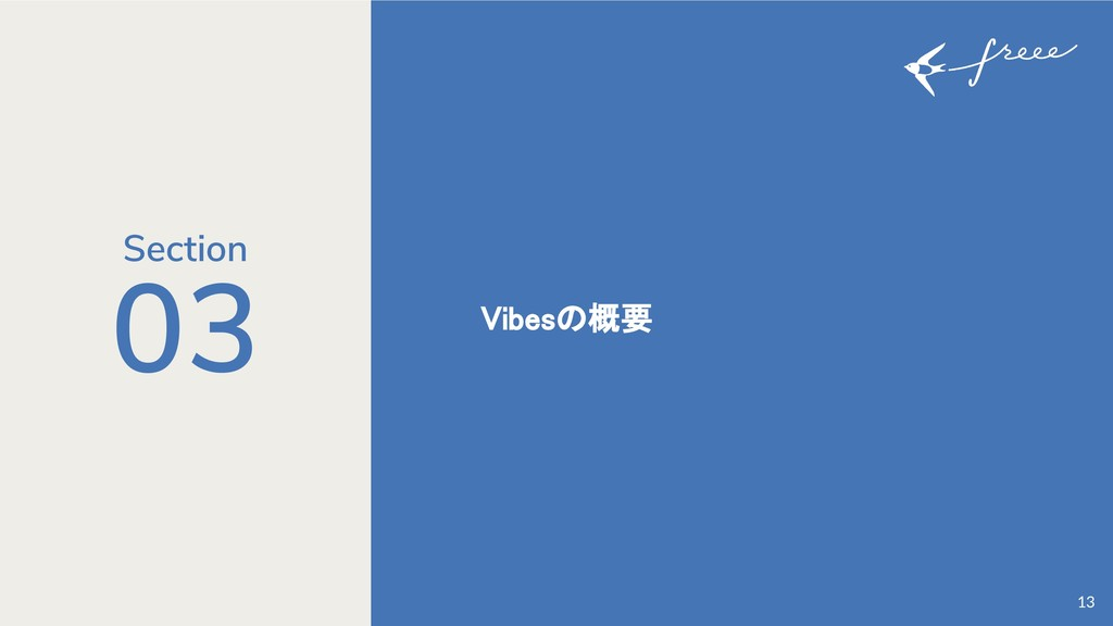 03 Vibesの概要 13 Section